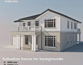 3D model Suburban house for backgrounds