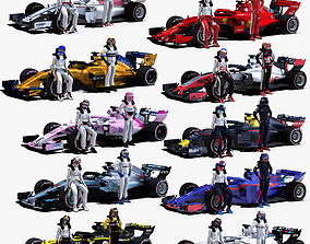 3D asset Formula 1 2018