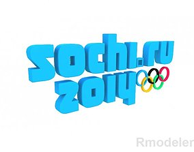 Olympic Games Sochi 2014 3d Logo