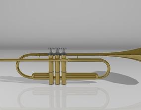 Brass Trumpet 3D model