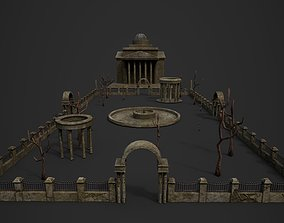 3D asset Old Roman Buildings with components
