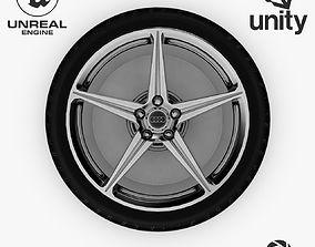 Wheel Steel-Chrome Alloy Rim Audi 19 3D model 4