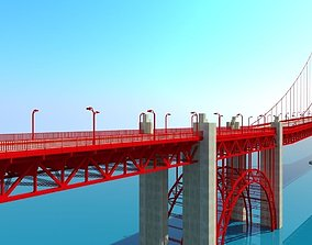 3D Golden Gate Bridge exterior-public