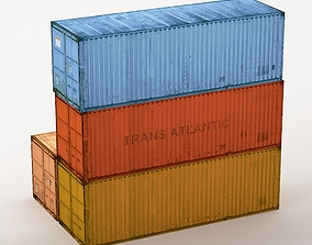 3D asset low-poly Container 01