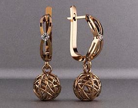 Earrings Fantasy 3D print model