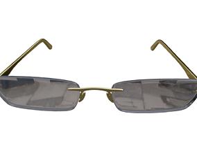 Hinge Glasses 3D asset