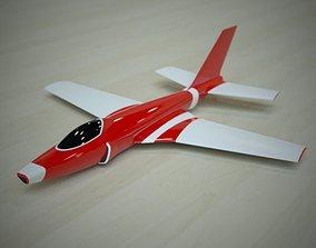 Simple jet concept 3D print model