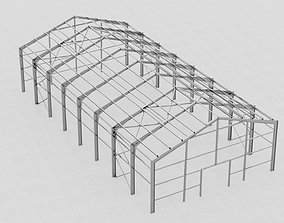 3D model Hangar industrial construction