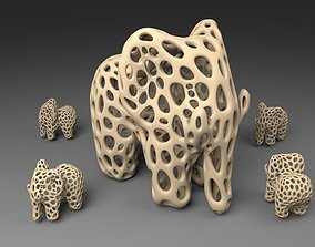 3D print model Elephant - Voronoi Style