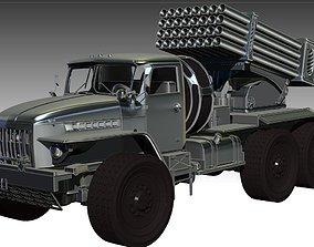 low-poly BM-21 Grad 3D model