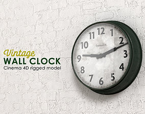 3D asset Vintage Wall Clock