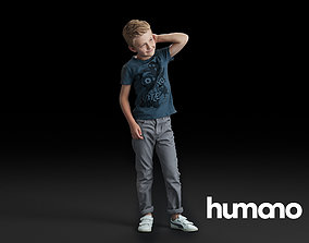 3D model Humano standing boy with hand behind his head