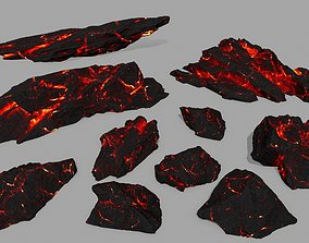 forest 3D asset realtime lava rocks