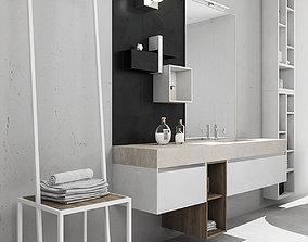 3D model bathroom Bathroom furniture set Arcom eGo