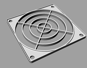 3D print model protection grid for 80 mm fan