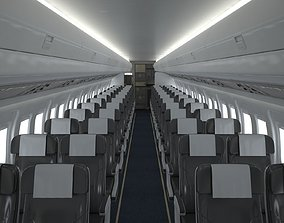 cinema4d 3D Airplane Cabin V3