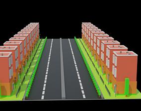 3D printable model low poly building modal