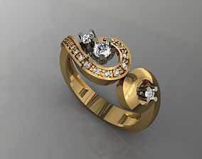 3D printable model elegant ring
