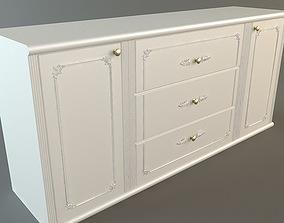 White Credenza Cabinet 3D