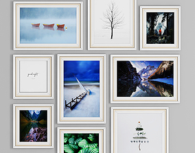 3D model photo frame wall 9 collection