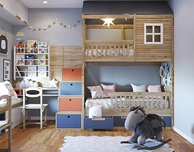 3D Child bedroom contemporist