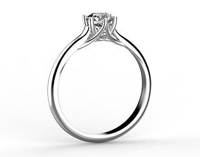 3D printable model Engagement ring 5 mm stone