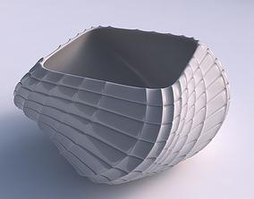 Bowl helix with strange tiles 3D print model