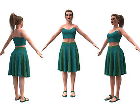 woman with clothing skirt 3D model