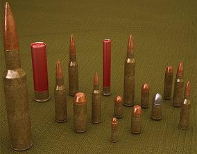 Cartridges Bullets 3D model