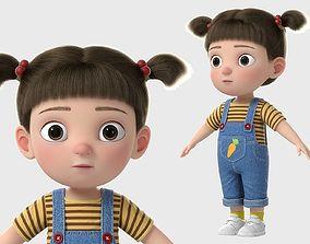 3D model Cartoon Girl NoRig