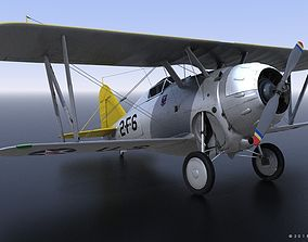 GRUMMAN F2F-1 USS Lexington CV-2 1936 3D model rigged