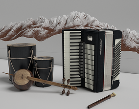 cello Musical instruments 3D models