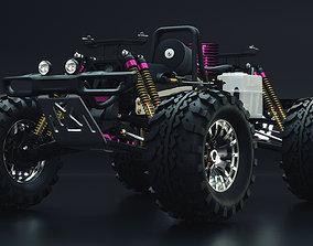 Radio Control RC Car 3D Model PBR