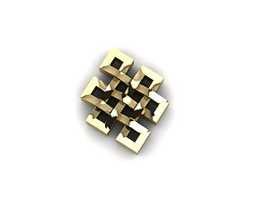 Buddhist knot 3D printable model