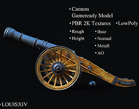 Field Cannon 3D asset
