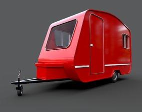 Caravan Trailer 3D asset