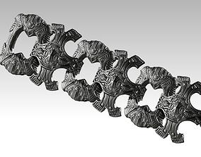 3D print model Best Cool High detailed Carved Bracelet 2
