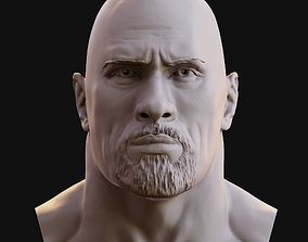 The Rock Dwayne Johnson 3D model print sculptures