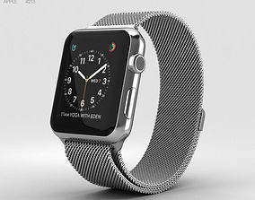 Apple Watch Series 2 42mm Stainless Steel Case Milanese 3D