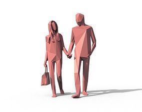 3D model Low Poly Couple Character Free