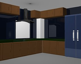 3D model MODULAR KITCHEN II