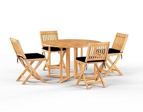 3D model Havenside Home Nahant Cinnamon Outdoor Dinner Set