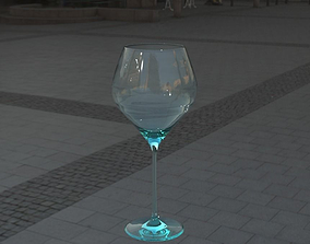 tableware 3D model wine glass