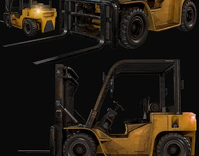 3D asset realtime forklift truck semi