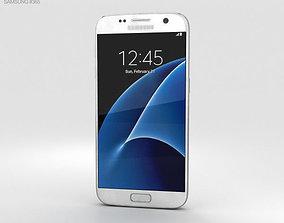 3D Samsung Galaxy S7 White