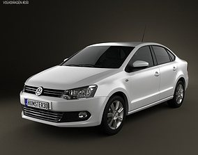 Volkswagen Polo sedan 2012 3D