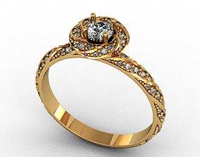 Diamond Ring 3D print model silver diamond