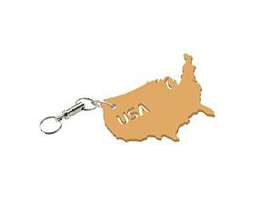 3D printable model USA keychain