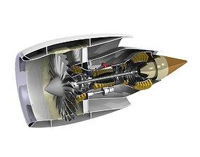 3D Turbofan cutaway