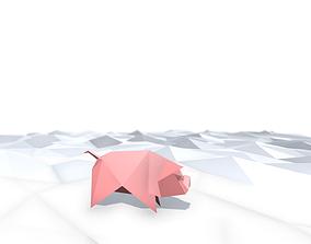 3D model Origami Pig